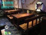 天津中餐厅餐桌椅 老榆木餐桌餐椅订制 中餐厅餐桌款式