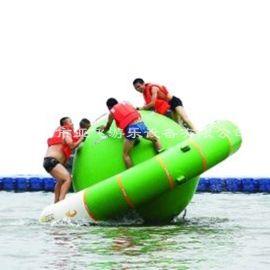 夏季**充气水上陀螺 水上UFO 水上闯关