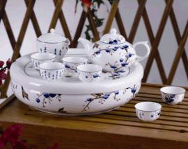 和瓷陶瓷青花瓷功夫茶具茶盘套装商务办公礼品