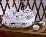 和瓷陶瓷青花瓷功夫茶具茶盤套裝商務辦公禮品