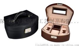 珠宝箱 皮盒 皮箱 珠宝首饰皮箱