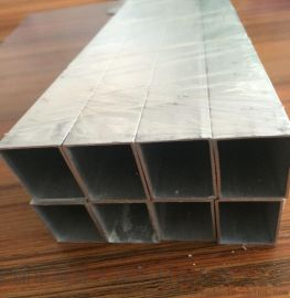 6063氧化银色铝方管 门窗铝方管 本色铝方管