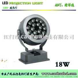 璨华LED投光灯 18W/36W照射灯 七彩单色外控户外防水照树灯 LED草坪灯