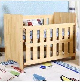 贝安诺纯实木婴儿床 童床魔术师环保木蜡油工艺可变少儿床学习桌 婴儿床