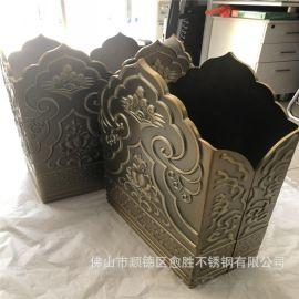 铝板折弯雕花黄古铜工艺件   寺庙装饰铜雕刻装饰异型件