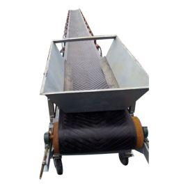 V型泥土皮带传送机 大倾角皮带输送机78