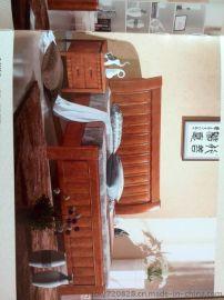 佛山市怡神家具真皮床软床宾馆酒店家具高箱床高箱衣柜床双人床橡木红木家具床