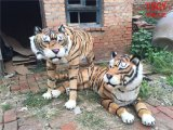 仿真动物,展示老虎模型,纯手工制作皮毛工艺品