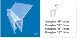 淋浴房135°防水胶条 浴室玻璃门挡水条
