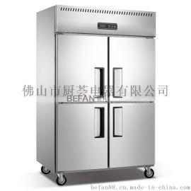 四门厨房冷柜 不锈钢商用冰柜 冷藏冷冻冰箱