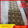 镜面黄钛金不锈钢屏风,酒店装饰不锈钢隔断供应商