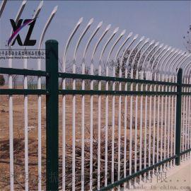 单向防爬锌钢护栏、防盗围墙锌钢围栏、锌钢护栏铁栏杆