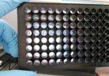 上海晶安全黑底透96孔细胞培养板 黑色透明底部96孔酶标板 平底全黑底透96孔板 四壁边框黑色96孔板 透光平底