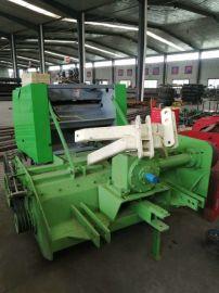 水稻杆秸秆粉碎打捆机,牵引式粉碎打捆一体机