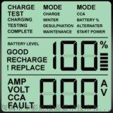 英文顯示溫溼度計顯示屏