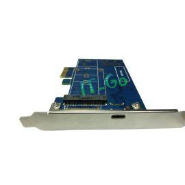 PCIe转mSATA TYPE-C USB3.1扩展卡 mSATA接口扩展卡