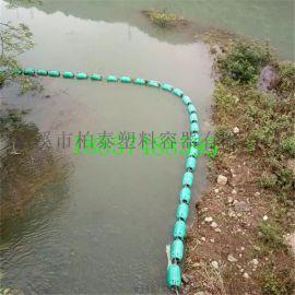 重庆自浮式水下挂网塑料拦污排厂家