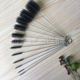 广东毛刷厂家大量特价批发10件套装工业机械管道刷子 规格齐全