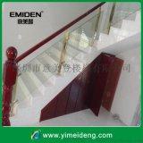 家用玻璃楼梯扶手,不锈钢立柱,玻璃护栏