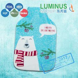 厂家直销 图案款式尺寸可定制 高品质环保无味天然橡胶热水袋加热水袋套