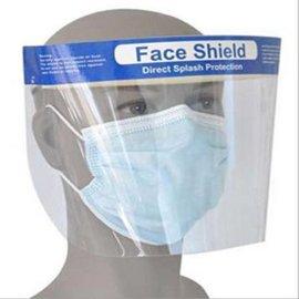 上海厂家直供套头式防护面罩一次性医用高透明塑料面屏防飞溅口腔牙科双面防雾