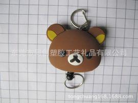 布朗熊双面logo合模卡通pvc软胶滴胶易拉扣