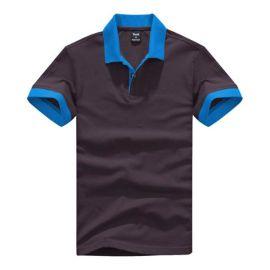 拓吉凯工作服P301-0803铁灰纯棉拉架珠地素色POLO衫