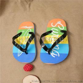 夏季时尚儿童防滑软底人字拖男童夹趾沙滩拖鞋中大童休闲夹脚拖鞋