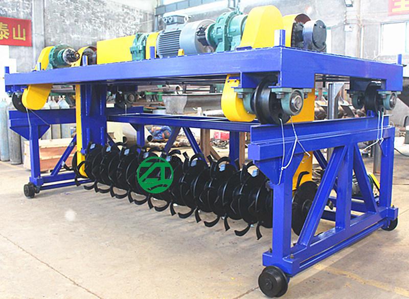 槽式翻抛机 轨道翻抛机 有机肥处理设备