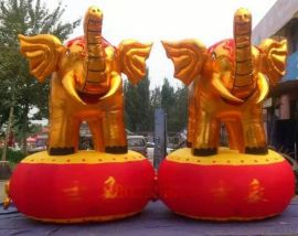 金色充气大象 4米金象气模 开业金象充气模型