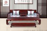 黑酸枝罗汉床-红木家具厂直销-国标红木