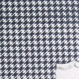 棉涤氨纶针织牛仔布印千鸟格(SL-NZ004)