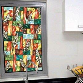 彩色教堂风格玻璃纸