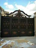厂家直销 双扇肯德基门 铝艺锌钢护栏 仿铜门 铝艺大门