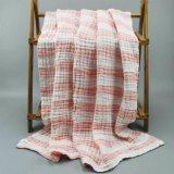 婴儿纱布浴巾 宝宝泡泡浴巾 新生儿色织浴巾