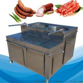 液压灌肠机现货肉块肉丝腊肠卧式不锈钢灌肠机