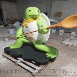 玻璃钢忍者神龟卡通动漫雕塑中山恒创雕塑厂家定制