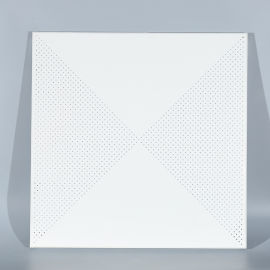 冲孔铝扣板厂家直销写字楼专用吊顶装饰白色铝扣板定制