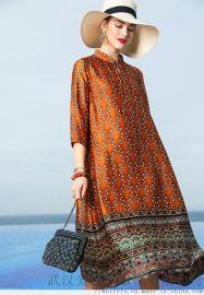 欧娅柏2020春装苎麻新款中长裙服装店拿货数量
