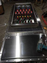 单门不锈钢防爆箱 304不锈钢焊接隔爆型防爆箱