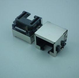 生產廠家現貨供應批發工業連接器插頭插座網路連接器RJ45沉板8P8C