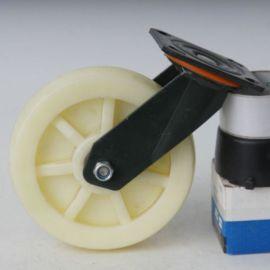 6寸工业白尼万向脚轮 耐磨轮子轱辘 手推车高弹脚轮 省力万向刹车