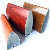 铝方通厂家加工定制型材子弹头锥形木纹铝方通吊顶