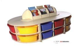 全木质软皮包装双层玩具柜A