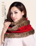 厂家批发零售最新版针织围巾围脖毛线纯色多用途使用毛毛围巾围脖披肩