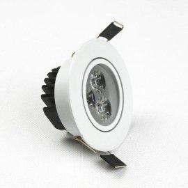 3W烤白漆LED天花射灯