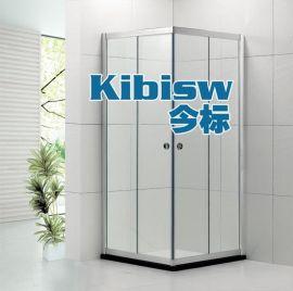 LR-001铝合金淋浴房方形对角趟门6-8MM浴室玻璃门304不锈钢滑轮