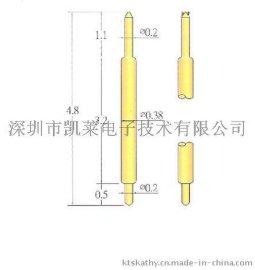 低价销售双头弹簧探针 038双头探针