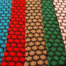 广州 时尚冬装针织面料 飞机花针织粗针提花布
