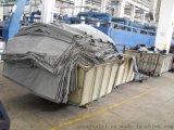 厂家直供:纺织印染厂用玻璃钢装布车,耐用防腐蚀方桶染布车,洗水厂用服装漂染推布车